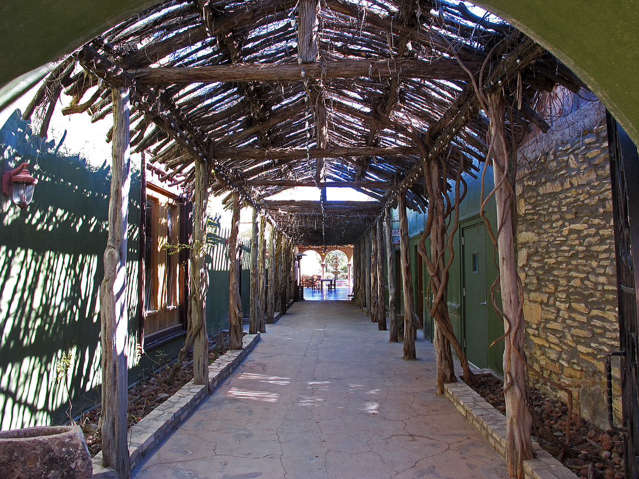Walkway to The Thirsty Goat Saloon and the Candelilla Cafe.