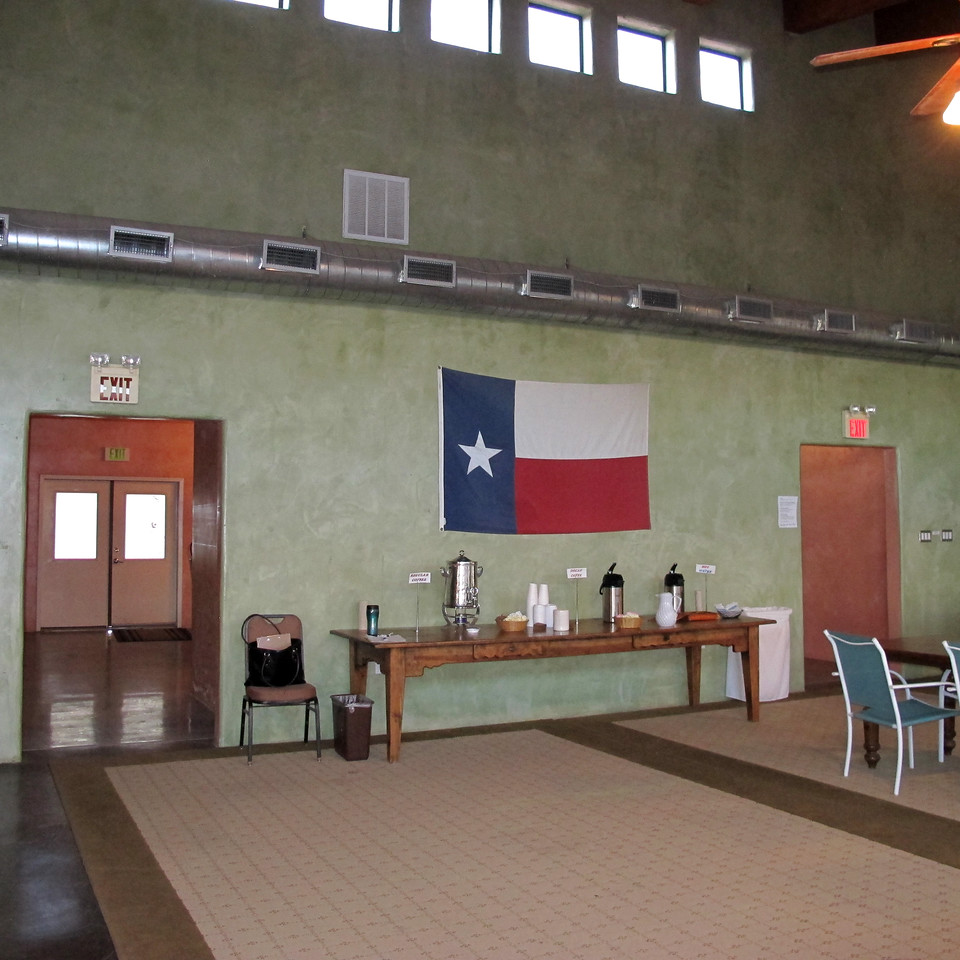 Maverick RV Clubhouse ~ The Resort provided coffee, tea and hot chocolate, Mon-Fri, from 8-10 am. Nice!