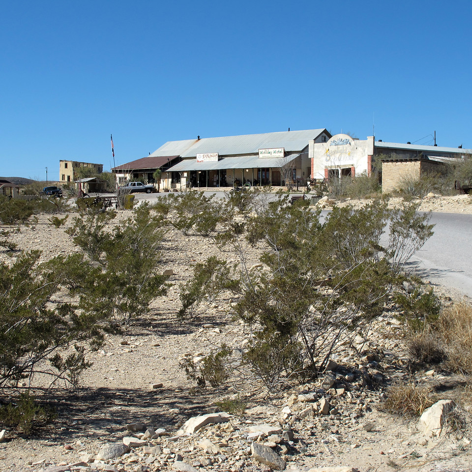 "Terlingua Trading Company (home of ""The Porch"") and the reknown Starlight Theatre."