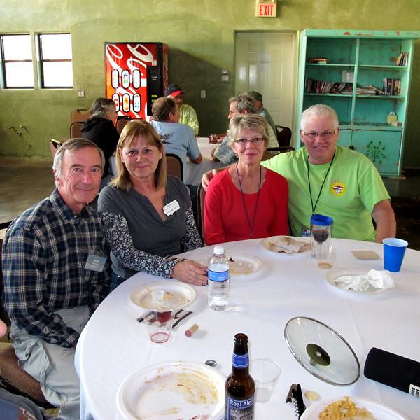 L to R:  Rob & Robbie Torrey, Linda & Dave Allen