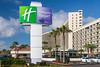 The Holiday Inn Resort on the seawall in Galveston, Texas, USA.