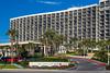 The San Luis Resort on the seawall in Galveston, Texas, USA.