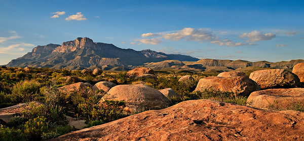 El Capitan - Guadalupe Mountain front 2 image stitch