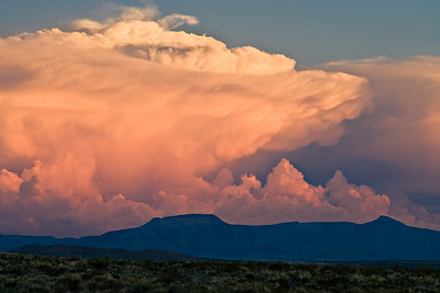 Thunderstorm cell south of the Guadalupe Mountains