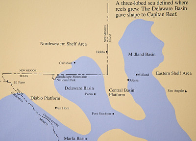 Distribution of Permain seas in West Texas