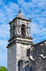 The San Jose Mission church bell tower near San Antonio, Texas, USA.