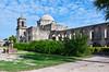 The San Jose Mission buildings and church near San Antonio, Texas, USA.