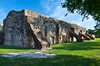 The San Jose Mission wall supports near San Antonio, Texas, USA.