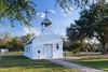 The historical La Lomita Chapel near Mission, Texas, USA.