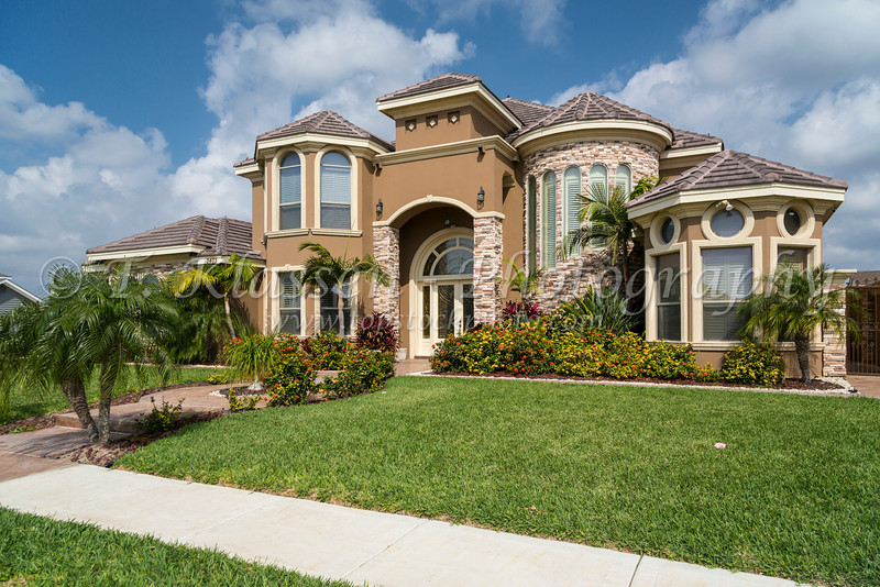 A real estate show home near Mission, Texas, USA.