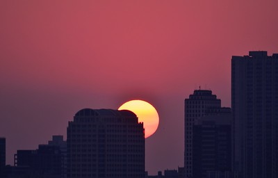 Sunrise over Austin Texas