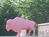 Pink Buffalo Statue