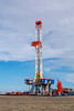 Exploratory oil well drilling rig near Peggy, Texas, USA.