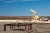 An oil well pumper near Peggy, Texas, USA.