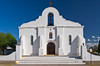 The San Elizario Presidio chapel in the desert near El Paso, Texas, USA.