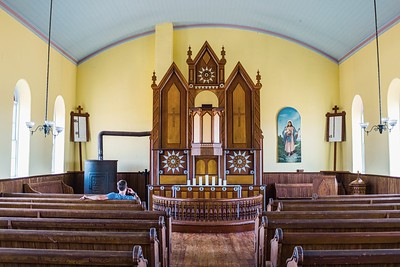 Old Rock Church ( St. Olaf's) in Bosque County, Texas