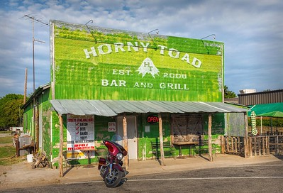Horny Toad Bar & Grill in Cranfield's Gap, Texas