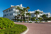 Modern resort accomodations on South Padre Island, Texas, USA.