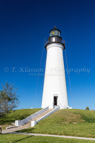 The Port Isabel lighthouse at the entrance to South Padre Island, Texas, USA.
