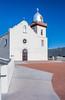 The Spanish Mission Church, Yselta Mission near El Paso, Texas, USA.