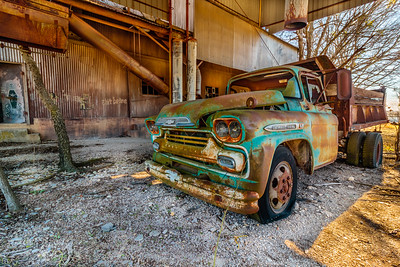 Chevy Truck at the Crawford Mill, Walburg