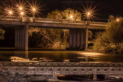 San Gabriel Park at Night