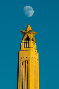 Blue moon over San Jacinto Monument