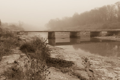 Old San Gabriel Crossing, Sepia Tone