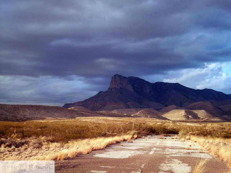 Guadalupe Peak from the old highway