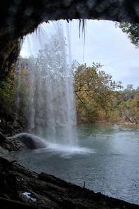 Behind Hamilton Pool Falls