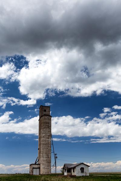 Abandoned Grain Elevator, Landergin, TX