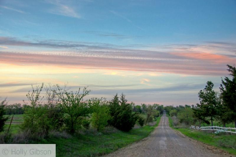 Sunset - Back Road , Paris, Texas