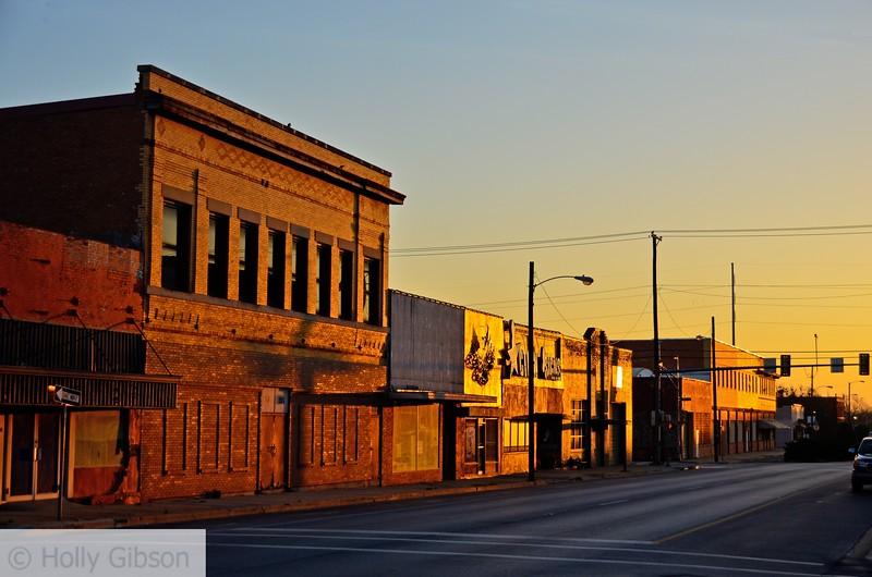 Sleepy Saturday morning in Cleburne, Texas
