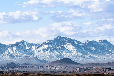 Chisos Mountains in the Snow