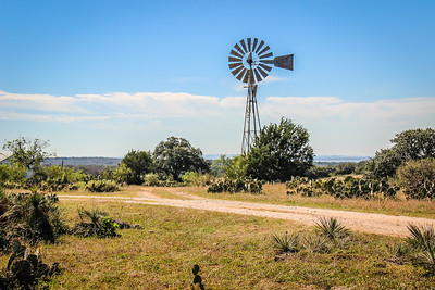 Windmill and the Old Dirt Road
