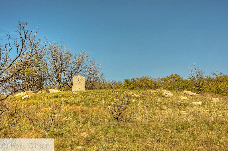 Granite marker near Brushy Mound - Texas hill country