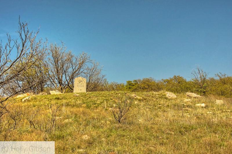 Granite marker near Brushy Mound - Texas hill country