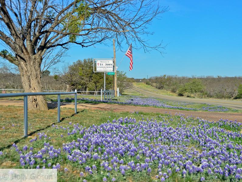 St. John Lutheran church east of Castell, Texas