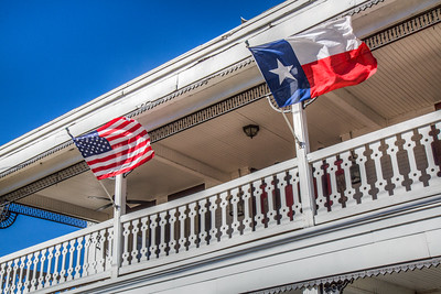 American and Texas Flags in Milford, Texas