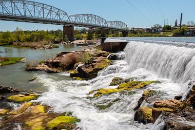 Llano Texas Railroad Bridge Waterfall