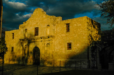 Alamo 117 with storm clouds