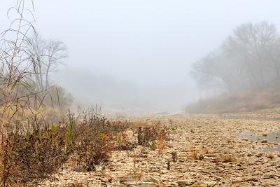 Foggy San Gabriel River Bottom