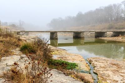 Foggy Fall Morning on the San Gabriel River