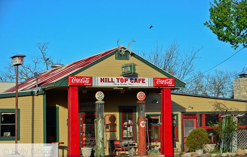 Gas station north of Fredricksburg, Texas