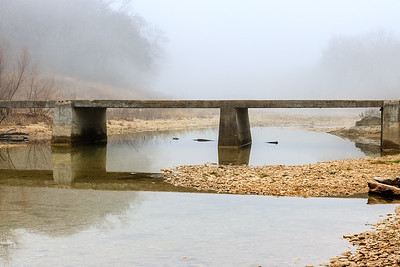Fog on the San Gabriel River