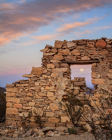 Moonrise on a Ghost Town