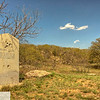Granite marker on Brush Mound - Texas Hill Country