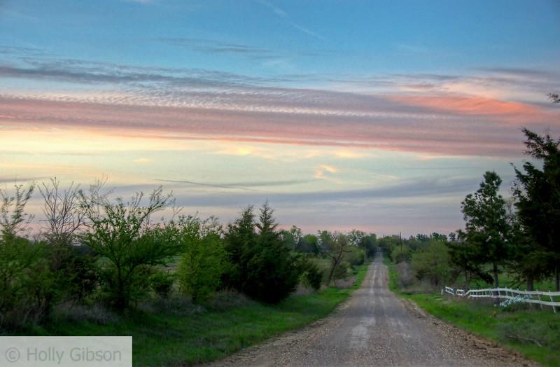 Sunset - Back Road, Paris Texas