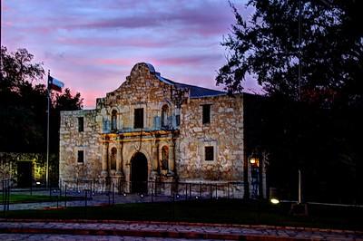 Alamo at Sunset