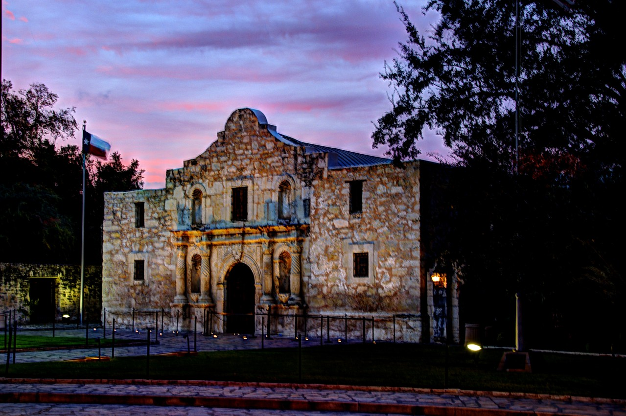 Alamo at Sunset